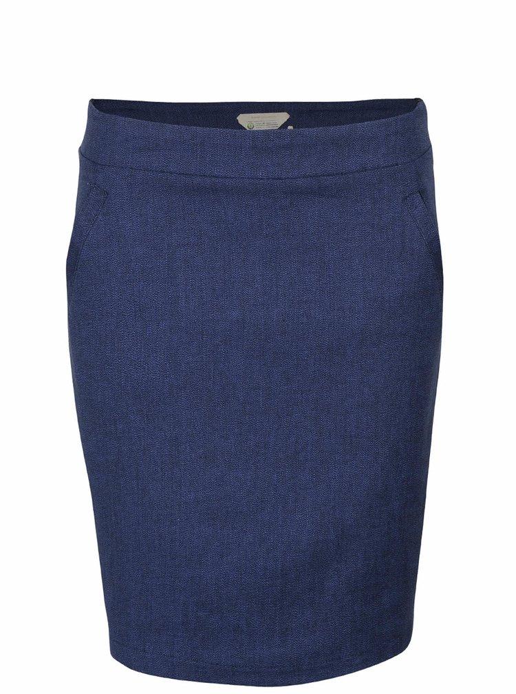 Tmavomodrá sukňa s vreckami Skunkfunk Sahar