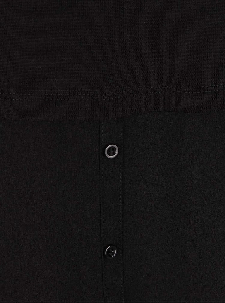 Černá tunika s dlouhým rukávem VILA Kaluka