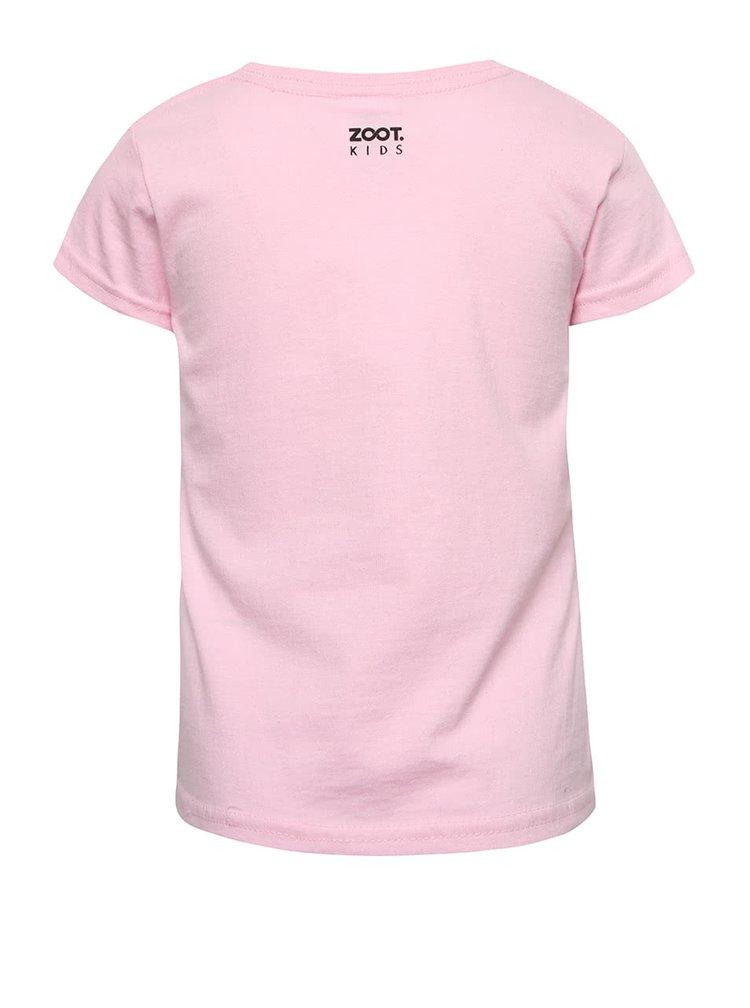 Růžové holčičí tričko s fosforeskujícím potiskem ZOOT Kids Strašidla