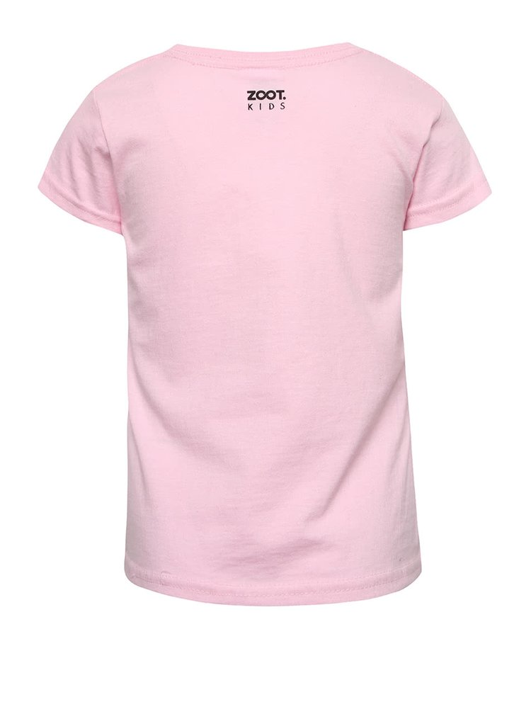 Tricou roz ZOOT Kids cu print fluorescent