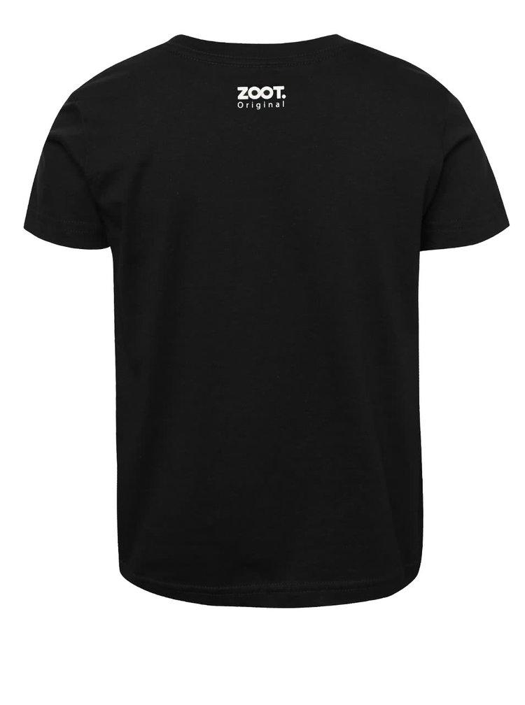 Černé klučičí tričko s fosforeskujícím potiskem ZOOT Kids Nebojím se