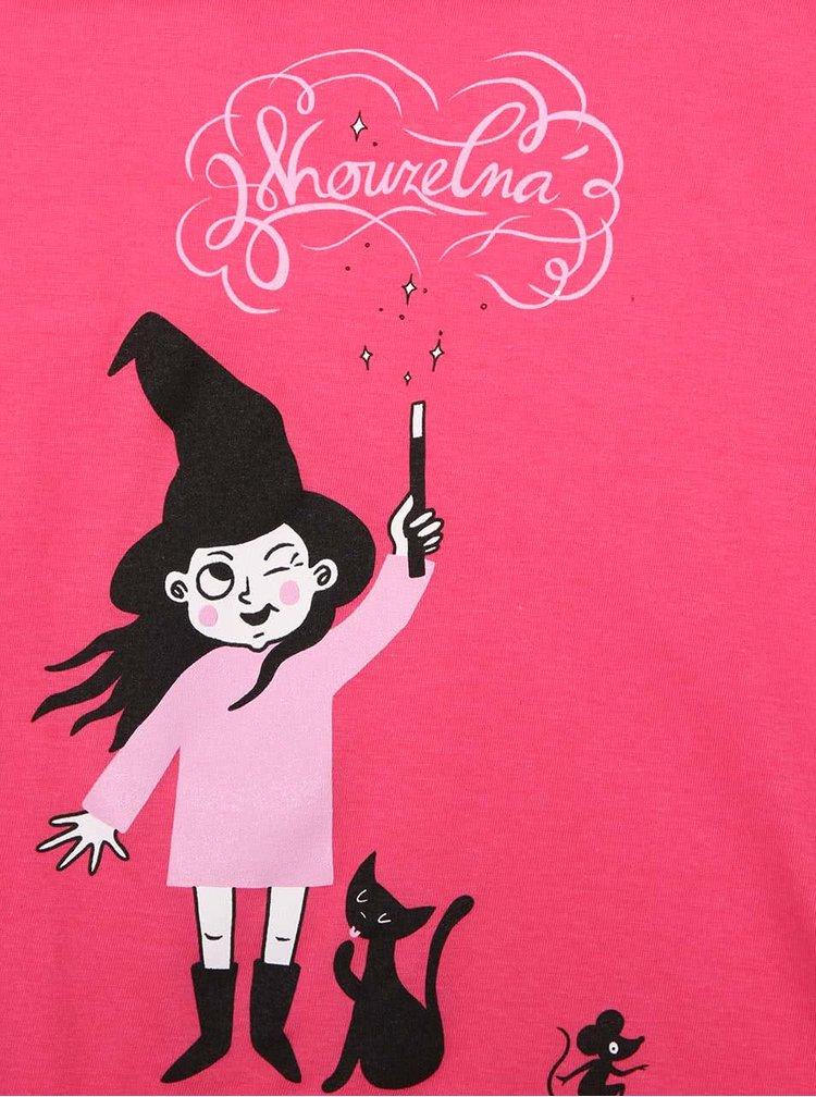 Ružové dievčenské tričko s potlačou ZOOT Kids Kouzelnice