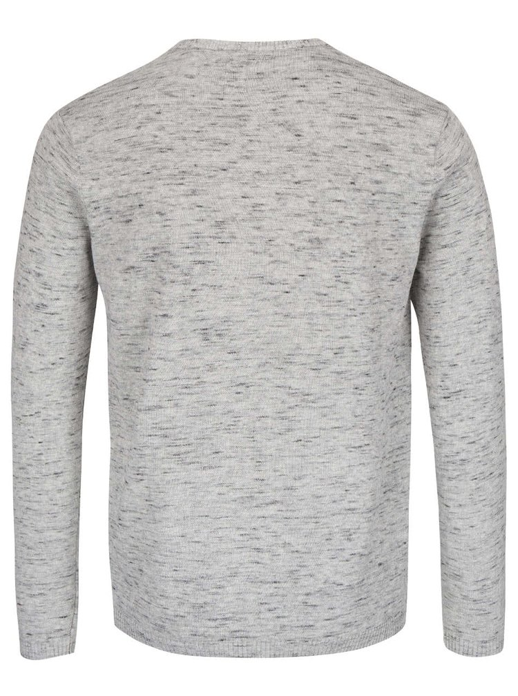 Světle šedý žíhaný svetr Bertoni Lukas