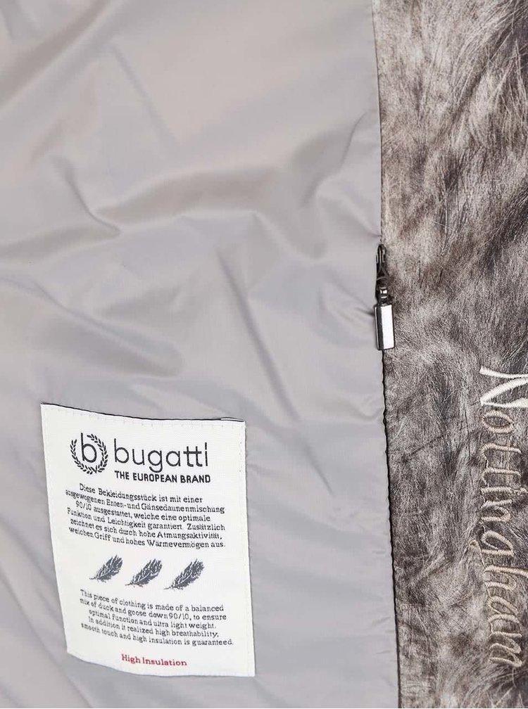Hnedá dámska vzorovaná bunda Bugatti