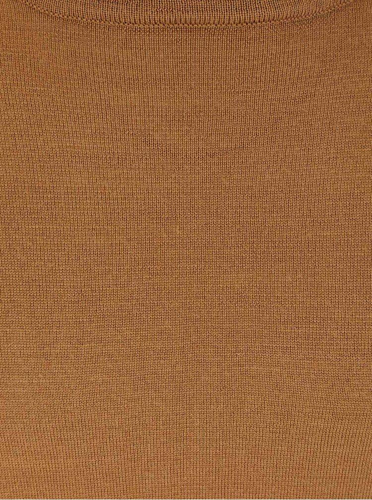 Hnedý sveter z Merino vlny Bertoni Laus