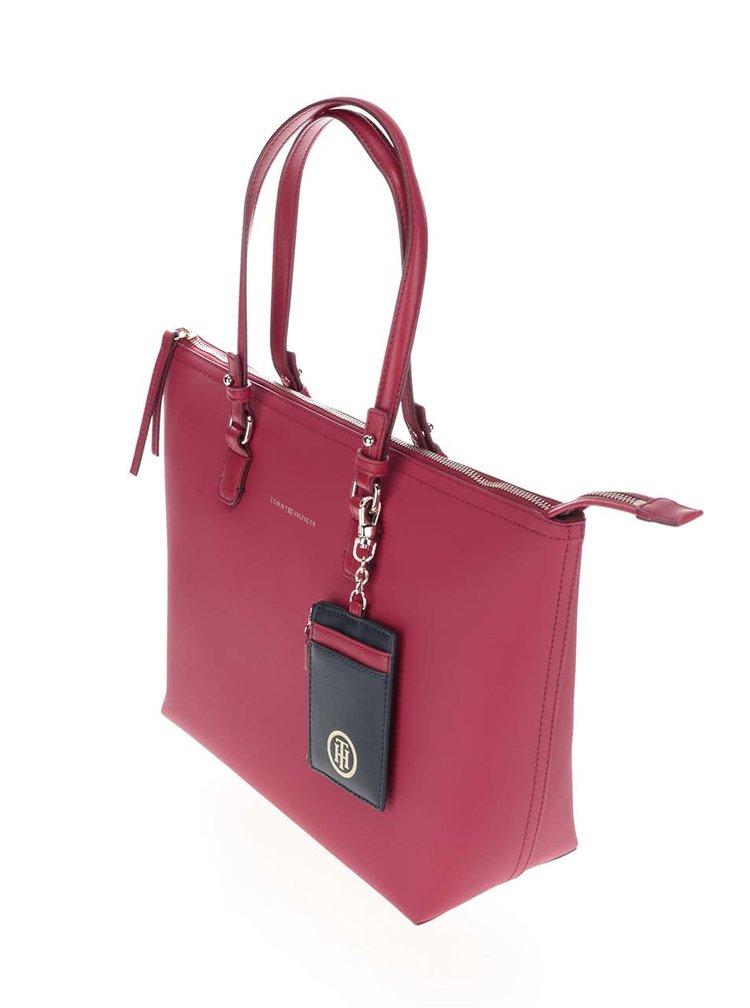 Růžová oboustranná kabelka Tommy Hilfiger