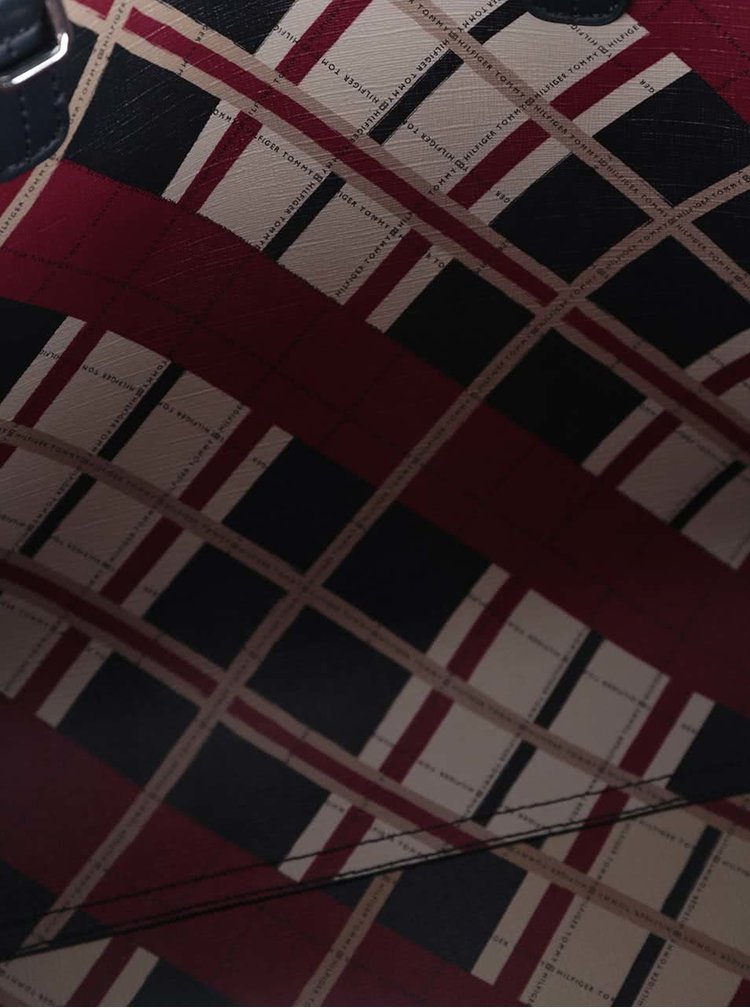 Tmavomodrá obojstranná kabelka Tommy Hilfiger
