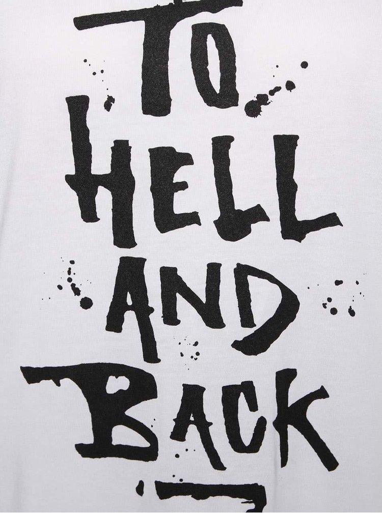 Biele dámske tričko s nápisom ZOOT Originál To Hell