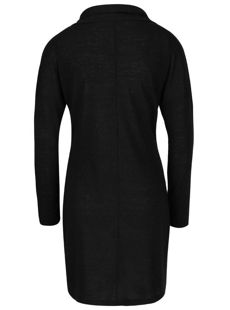 Černé průsvitné šaty s dlouhými rukávy Skunkfunk Lorelai