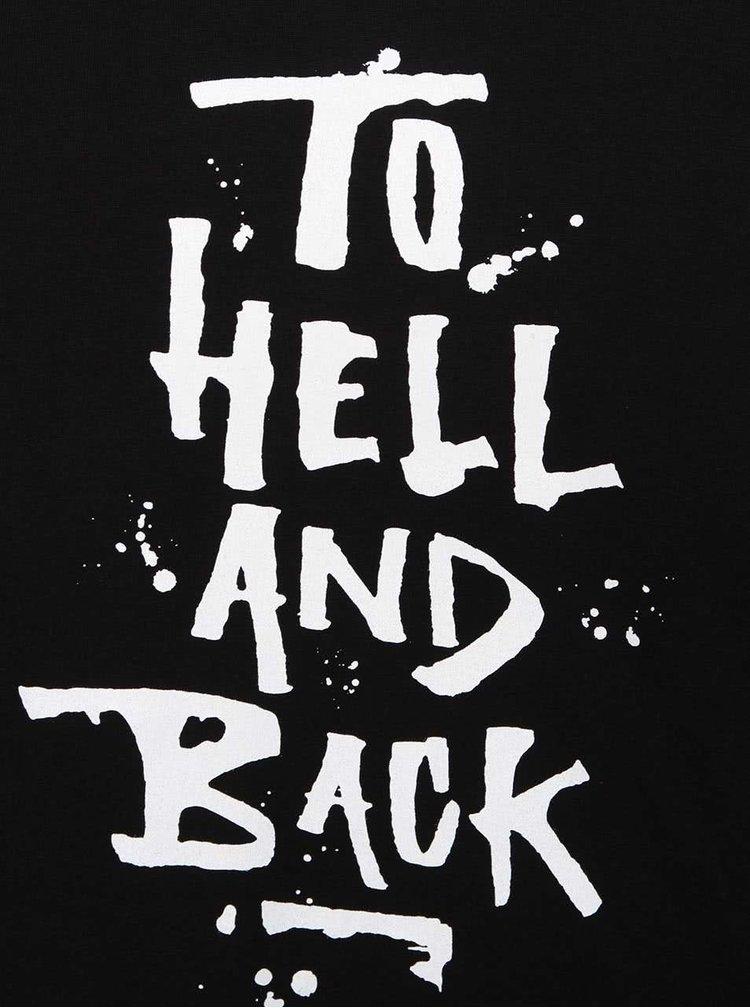 Čierne pánske tričko s nápisom ZOOT Originál To Hell