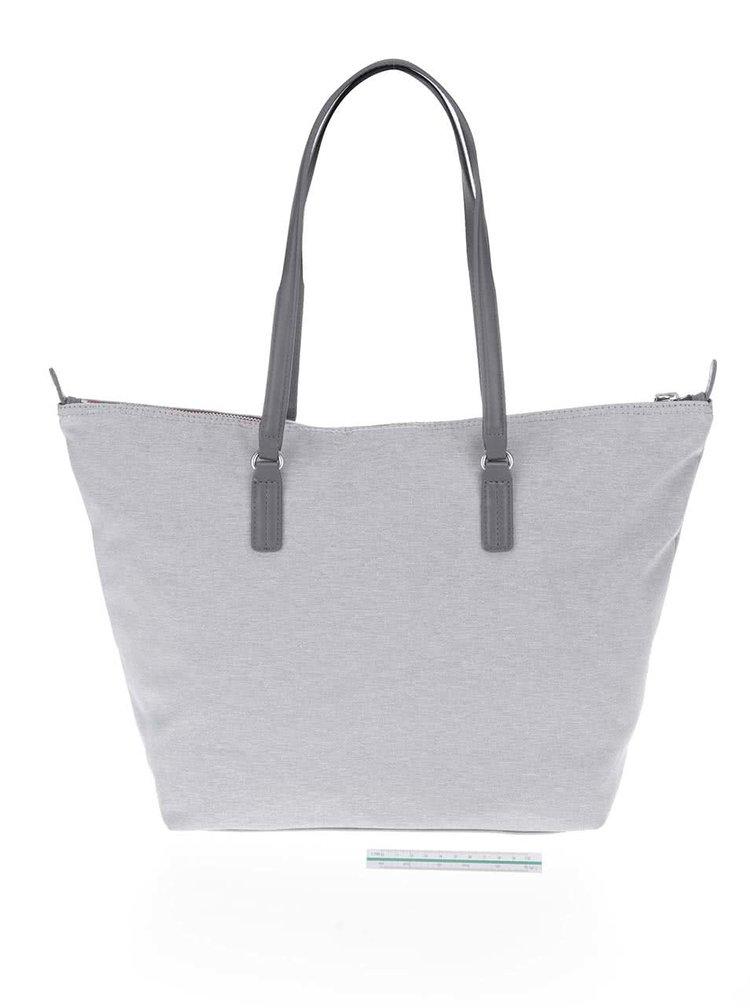 Sivá väčšia kabelka do ruky Tommy Hilfiger