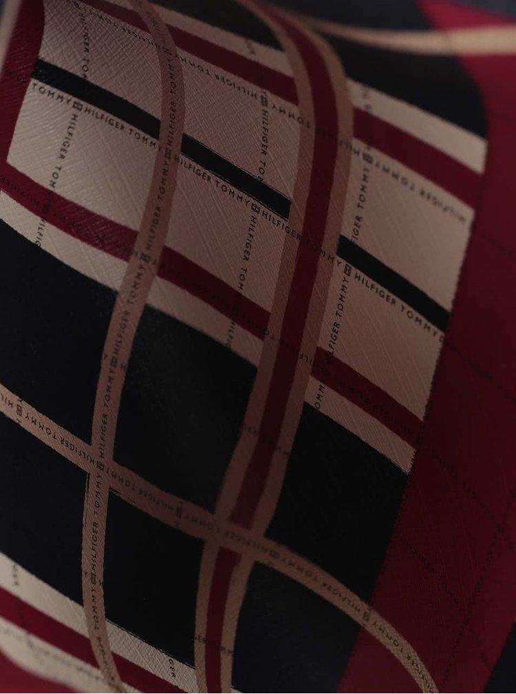 Tmavě modrá menší kabelka s červeným pouzdrem Tommy Hilfiger