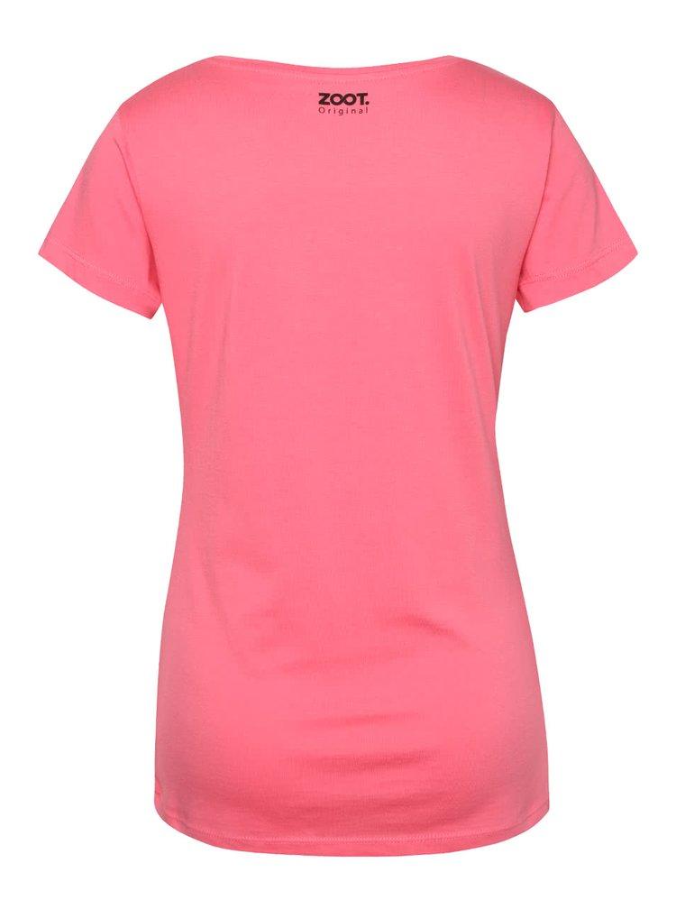 Růžové dámské tričko s nápisem ZOOT Originál Jsem kost