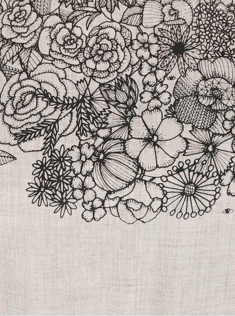 Šedé šaty s květovaným potiskem Skunkfunk Pyke