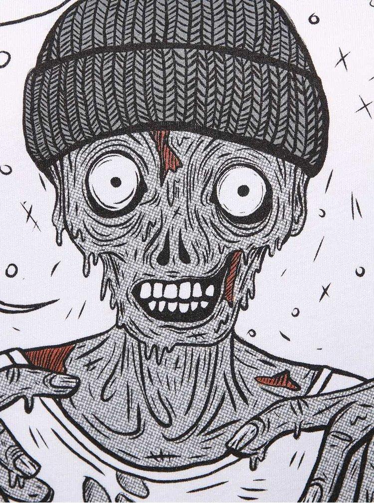 Tricou alb ZOOT Original Zombie de damă