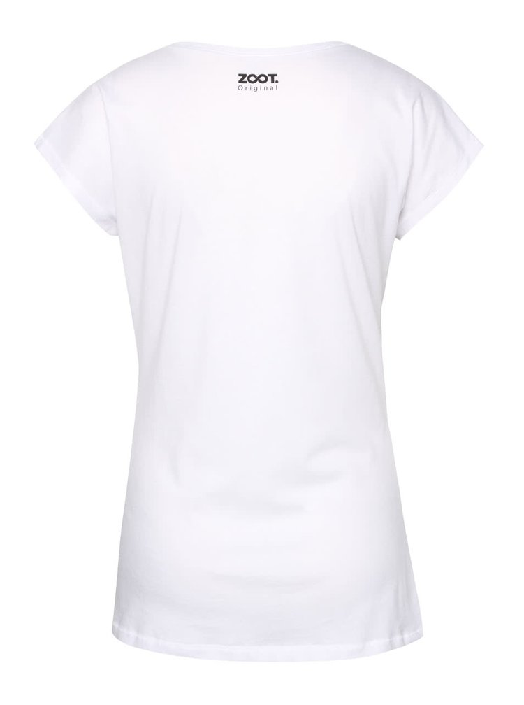 Bílé dámské tričko s lebkou ZOOT Originál Muerte