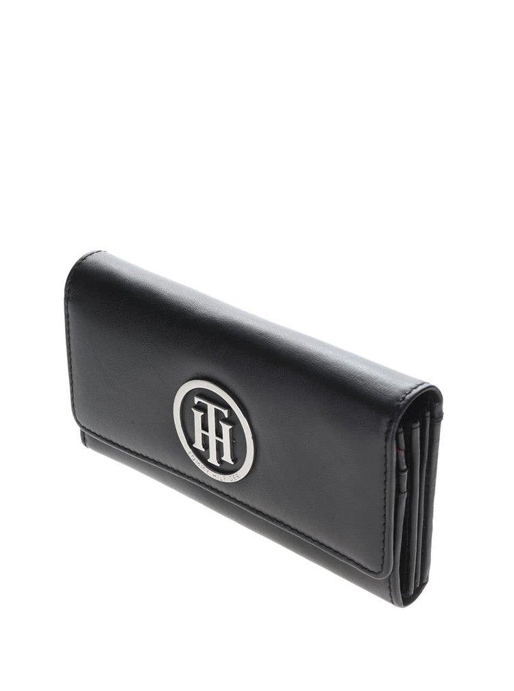 Čierna kožená dámska peňaženka Tommy Hilfiger