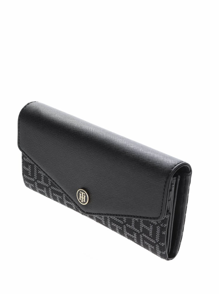 Černá dámská peněženka s potiskem Tommy Hilfiger