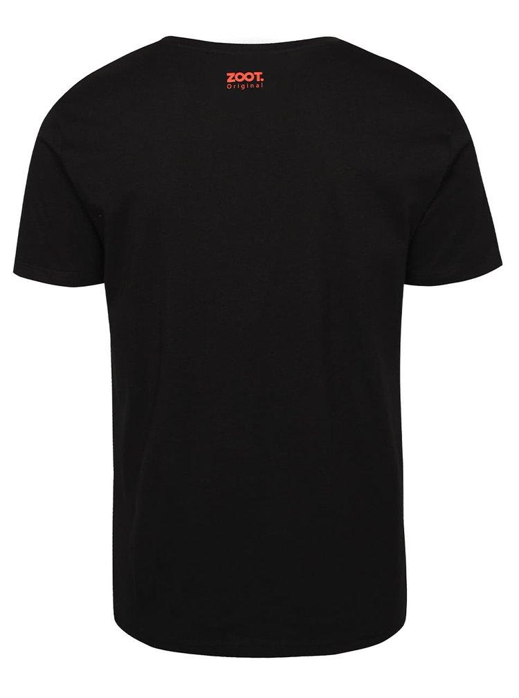 Tricou negru ZOOT Original Eat My Brain de bărbați