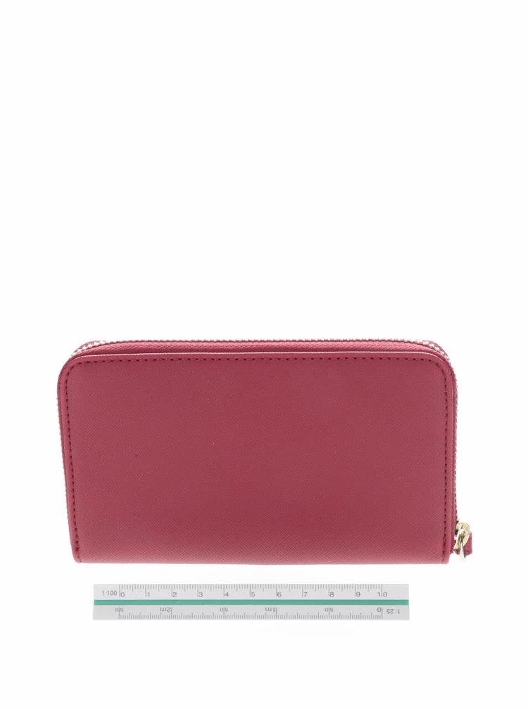 Červená peňaženka s pútkom Tommy Hilfiger