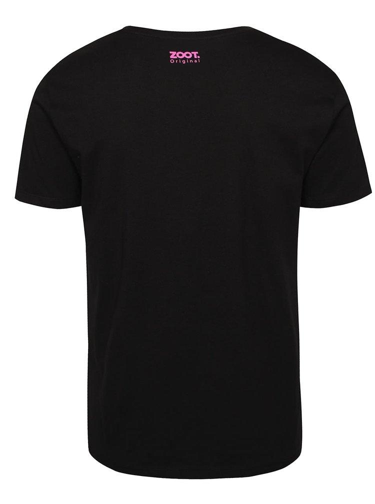Čierne pánske tričko s dinosaurom ZOOT Originál Dino