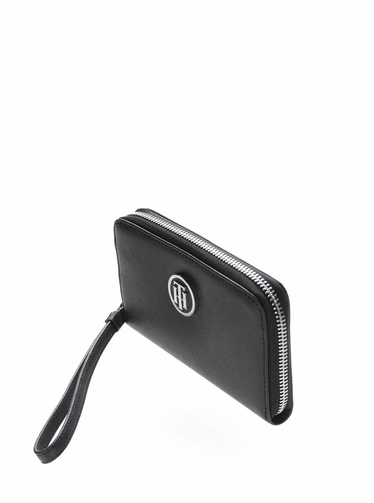 Čierna peňaženka s pútkom Tommy Hilfiger