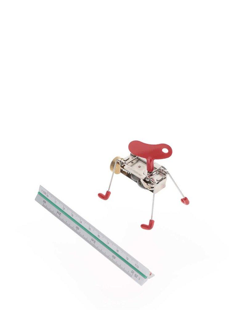 Hračka na kľúčik v červenej farbe SPINNEY WIND UP Kikkerland