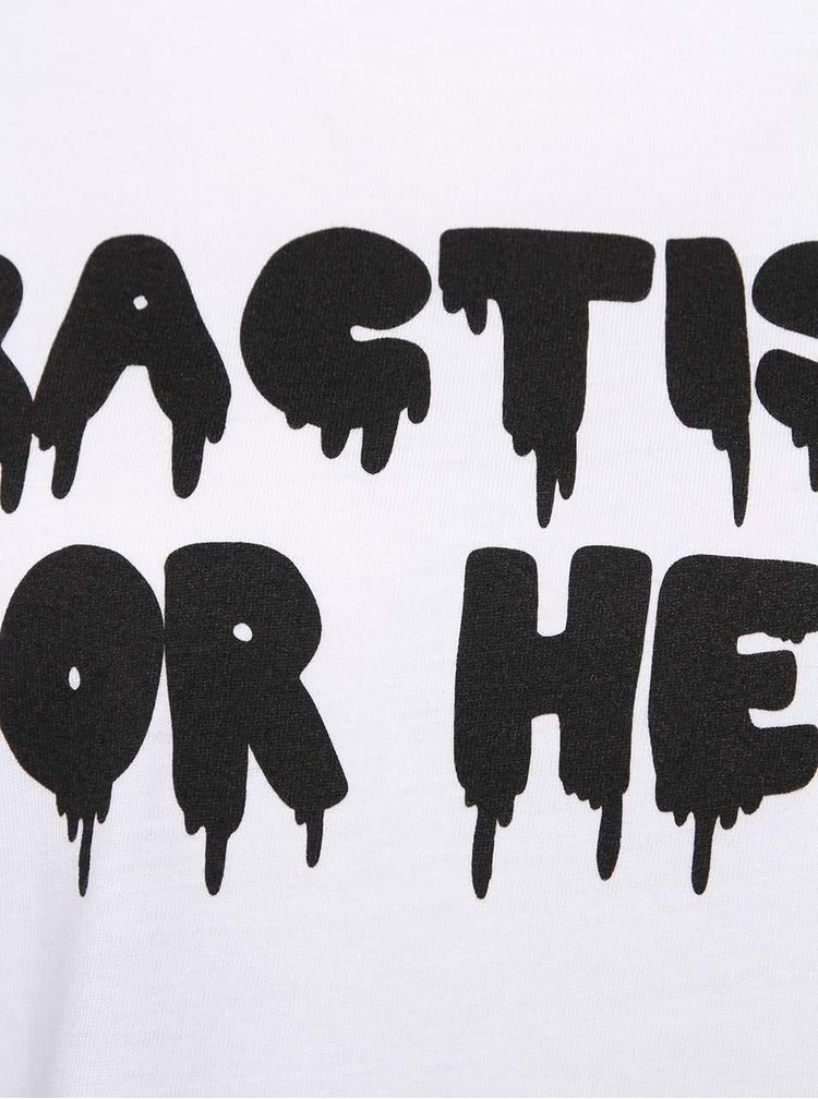 Čierno-biele dámske tričko s nápisom ZOOT Originál Practising