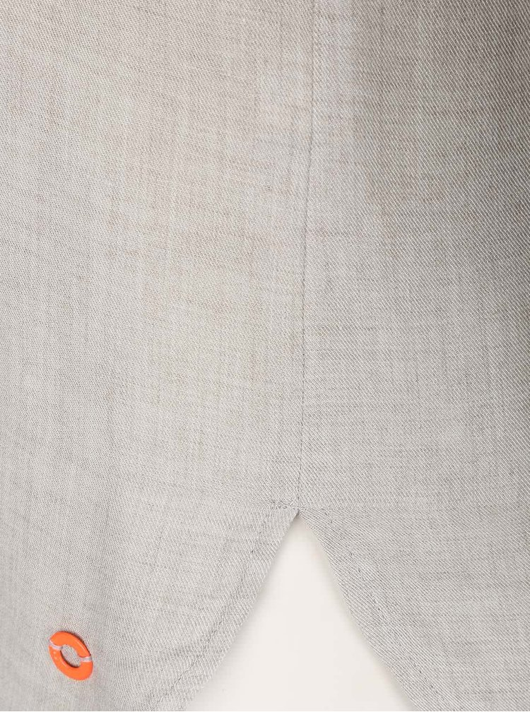 Světle šedá vzorovaná halenka Skunkfunk Nissa