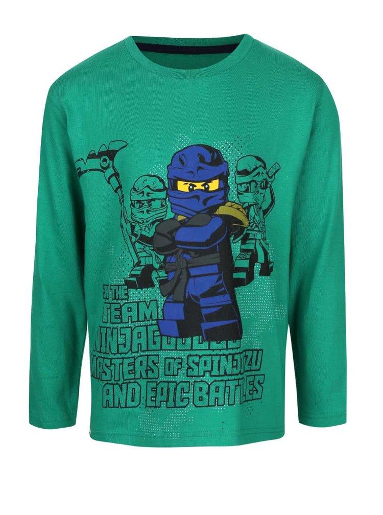 Tmavozelené chlapčenské tričko s dlhým rukávom LEGO Wear