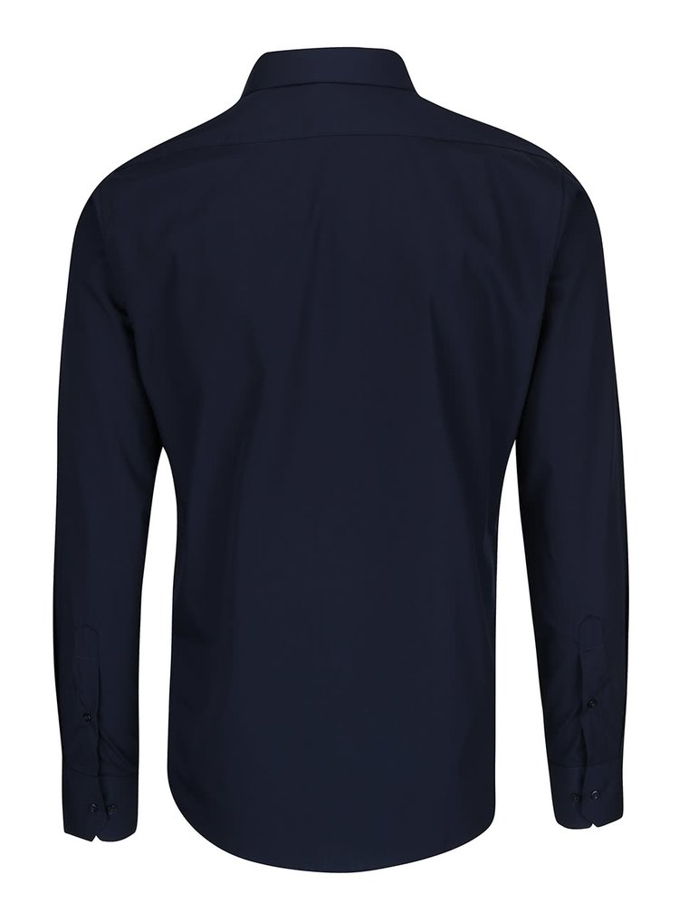Tmavě formální modrá košile Bertoni Gustav