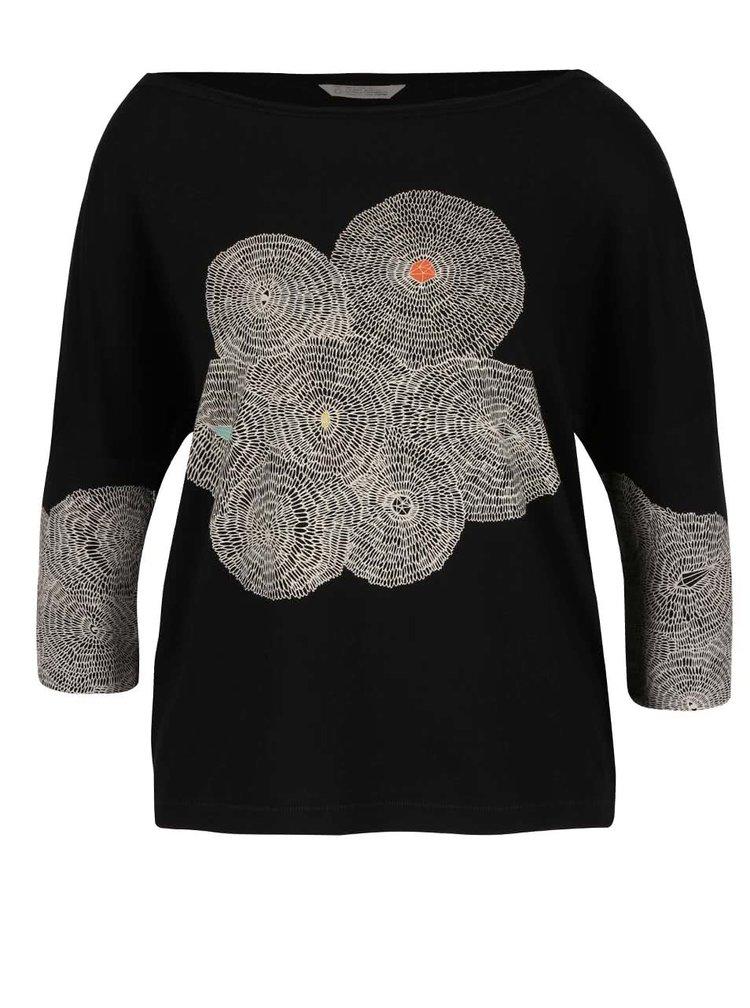 Čierne oversize tričko so vzorom Skunkfunk Maindy
