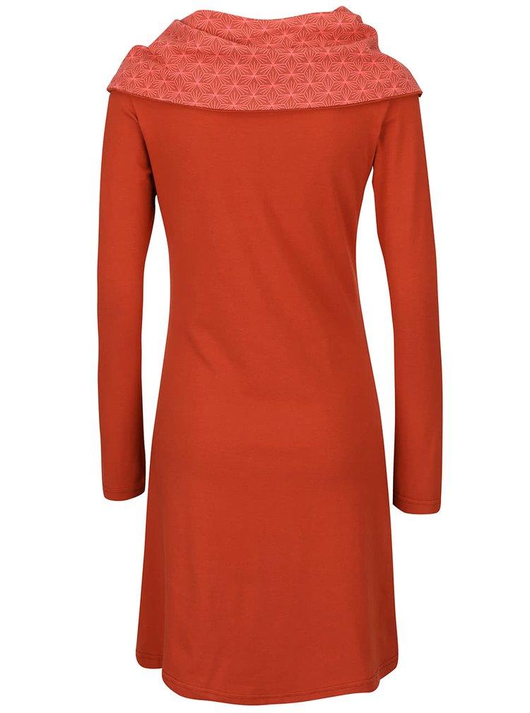 Cihlové šaty s límcem Tranquillo Serail