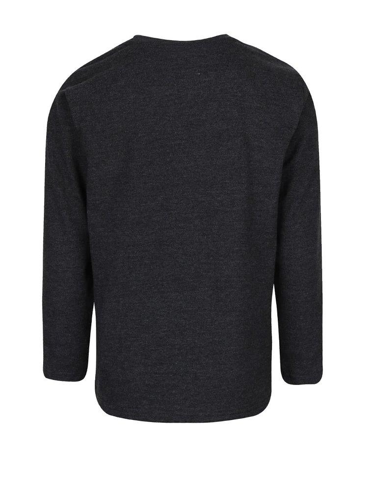 Tmavě šedé klučičí tričko s dlouhým rukávem LEGO Wear