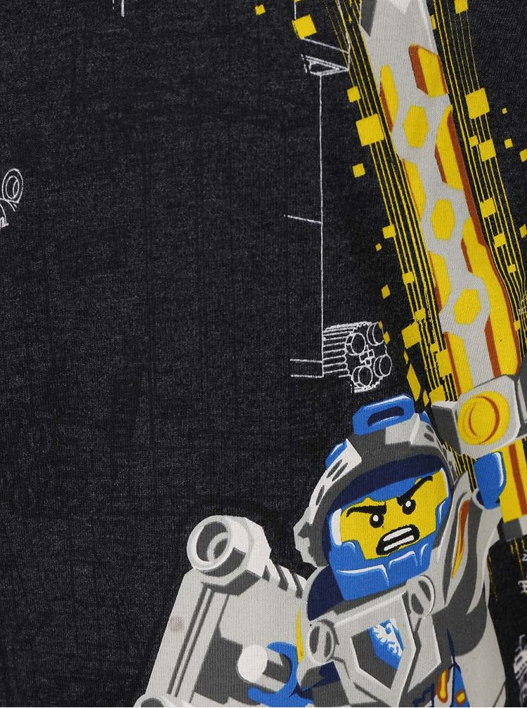 Tmavosivé chlapčenské tričko s dlhým rukávom LEGO Wear
