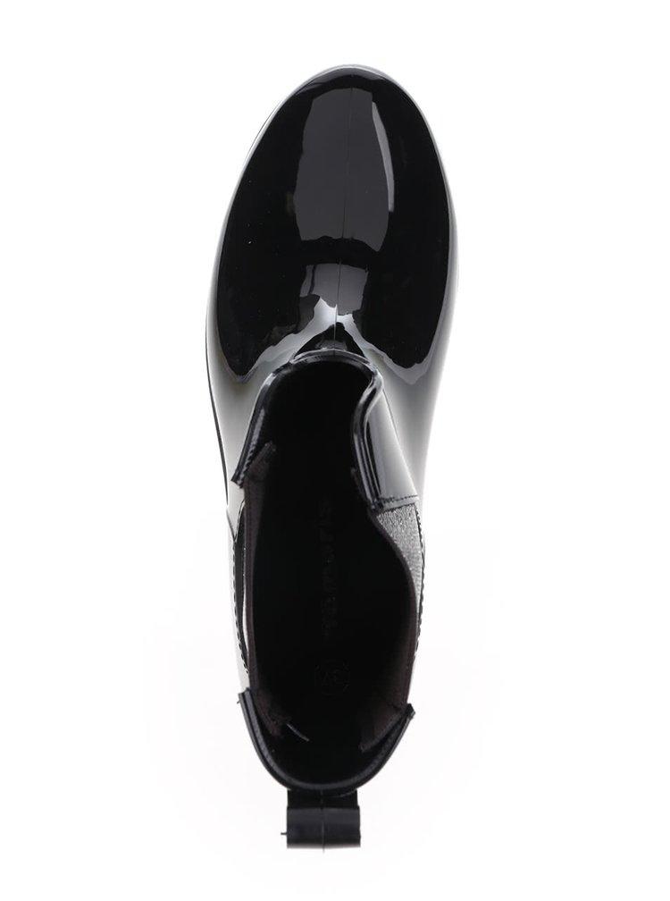 Cizme negre Tamaris de cauciuc