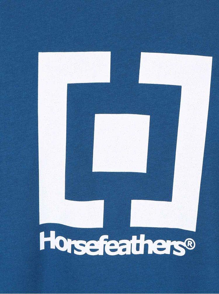 Tricou albastru Horsefeathers New Base din bumbac