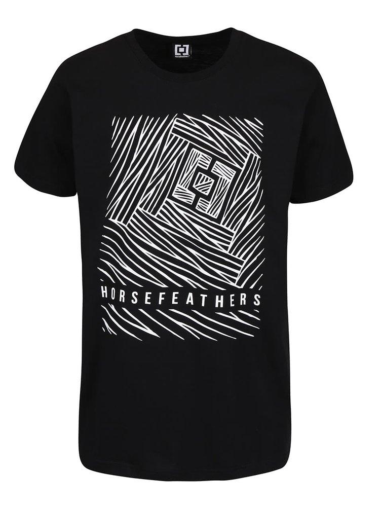 Tricou negru din bumbac Horsefeathers Circuit cu print