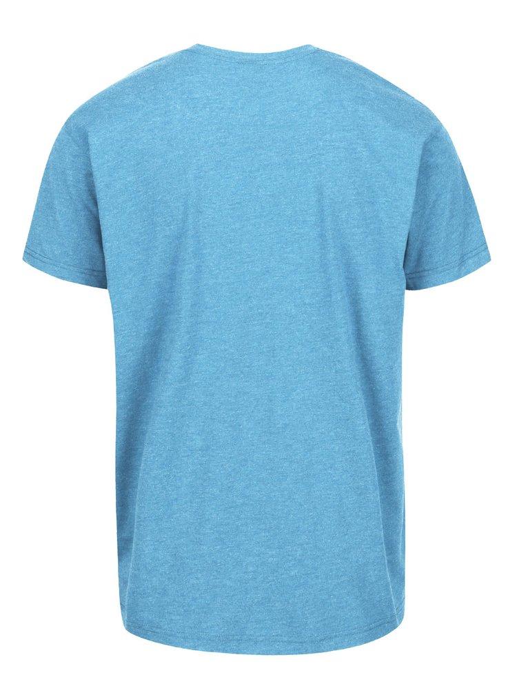 Modré žíhané pánské triko s potiskem Horsefeathers Riders