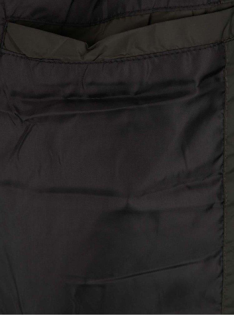 Tmavě zelená prošívaná vesta Jack & Jones Originals Strong