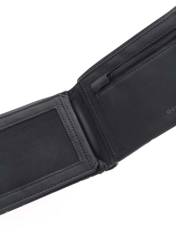 Černá pánská peněženka s potiskem Quiksilver Freshness