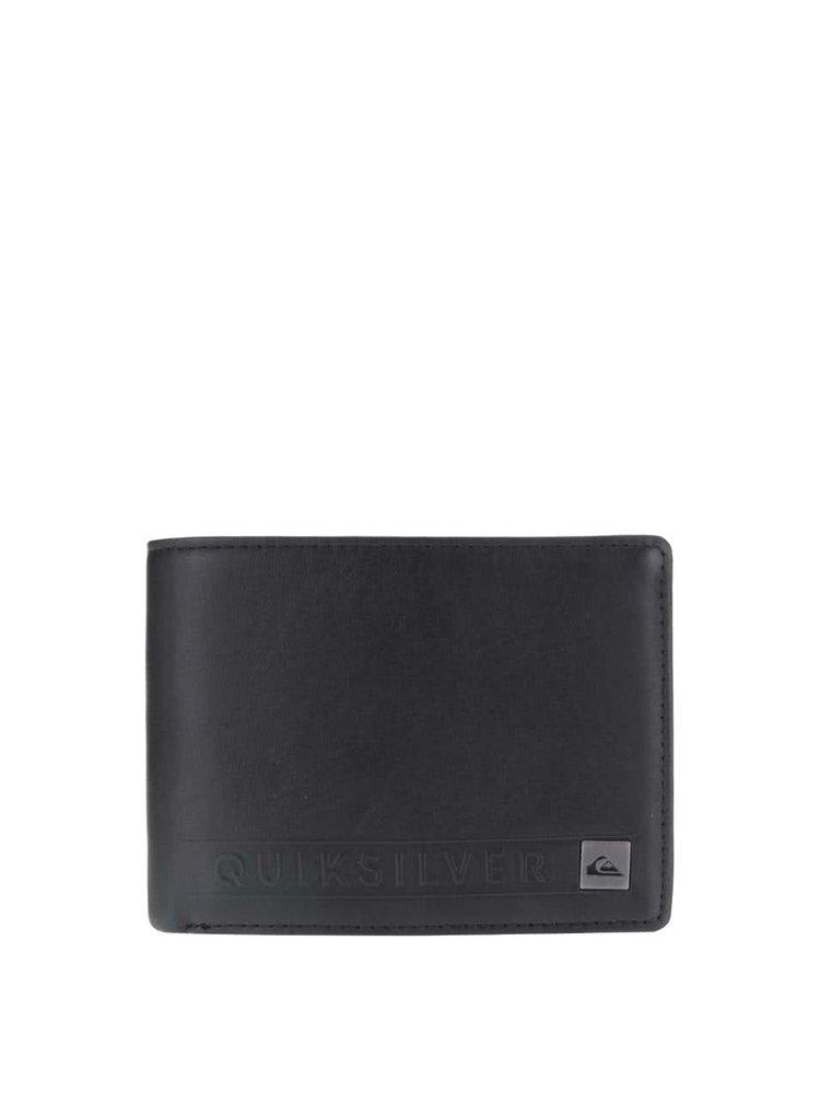 Černá pánská kožená peněženka Quiksilver Mack