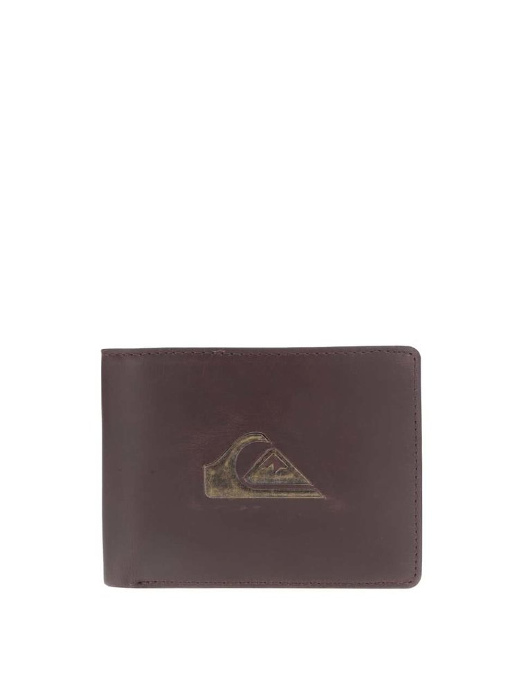 Portofel maro din piele Quiksilver Miss Dollar cu logo