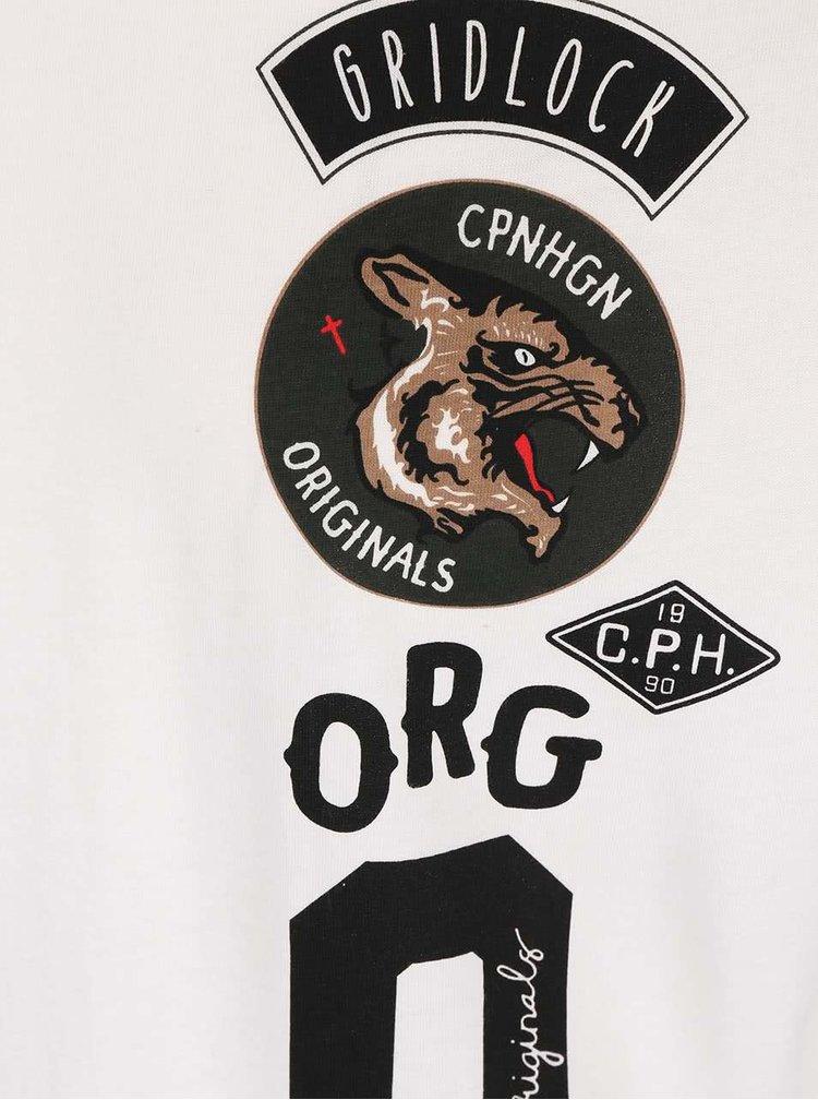 Krémové tričko s potlačou Jack & Jones Originals Rides