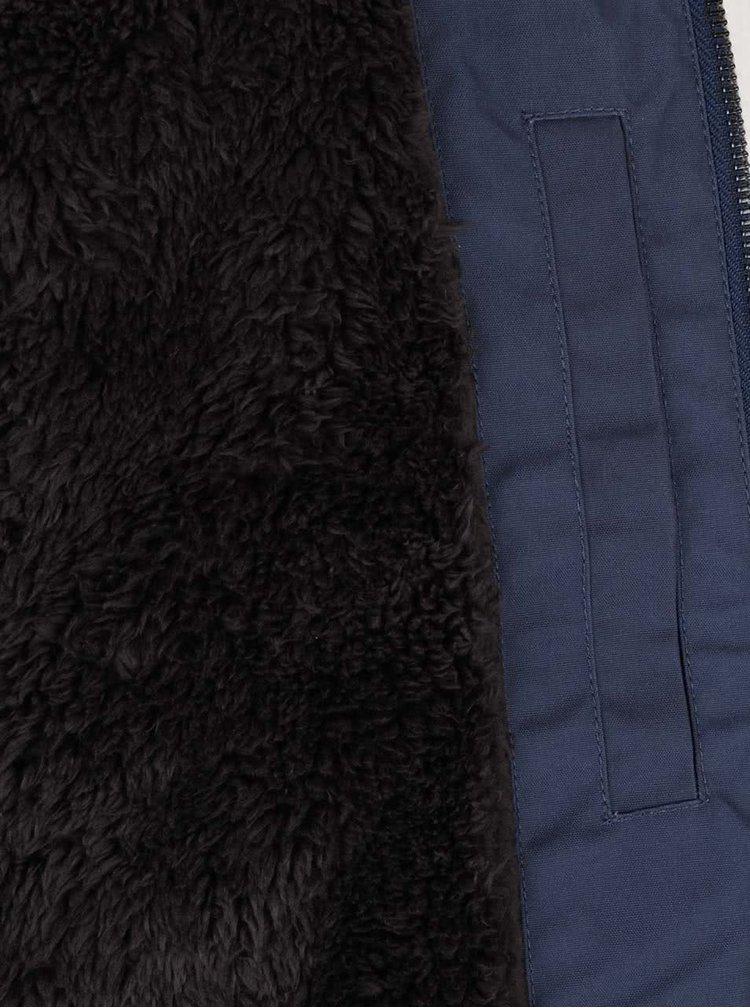 Tmavomodrá pánska bunda s kapucňou Quiksilver Wanna