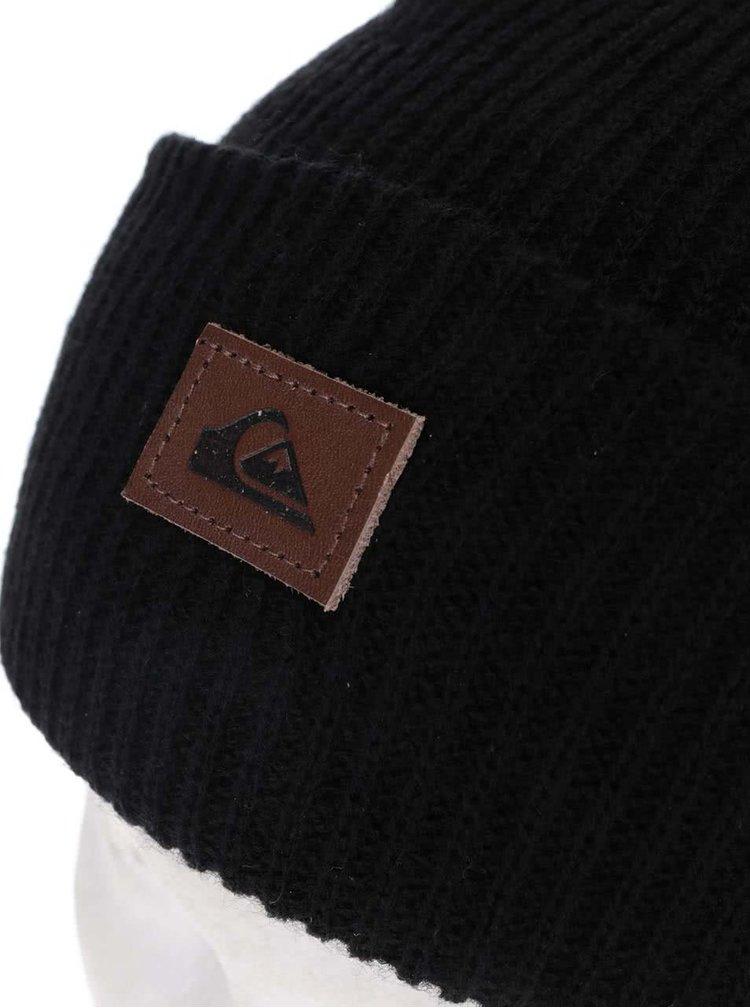Čierna pánska čiapka s logom Quiksilver Performer