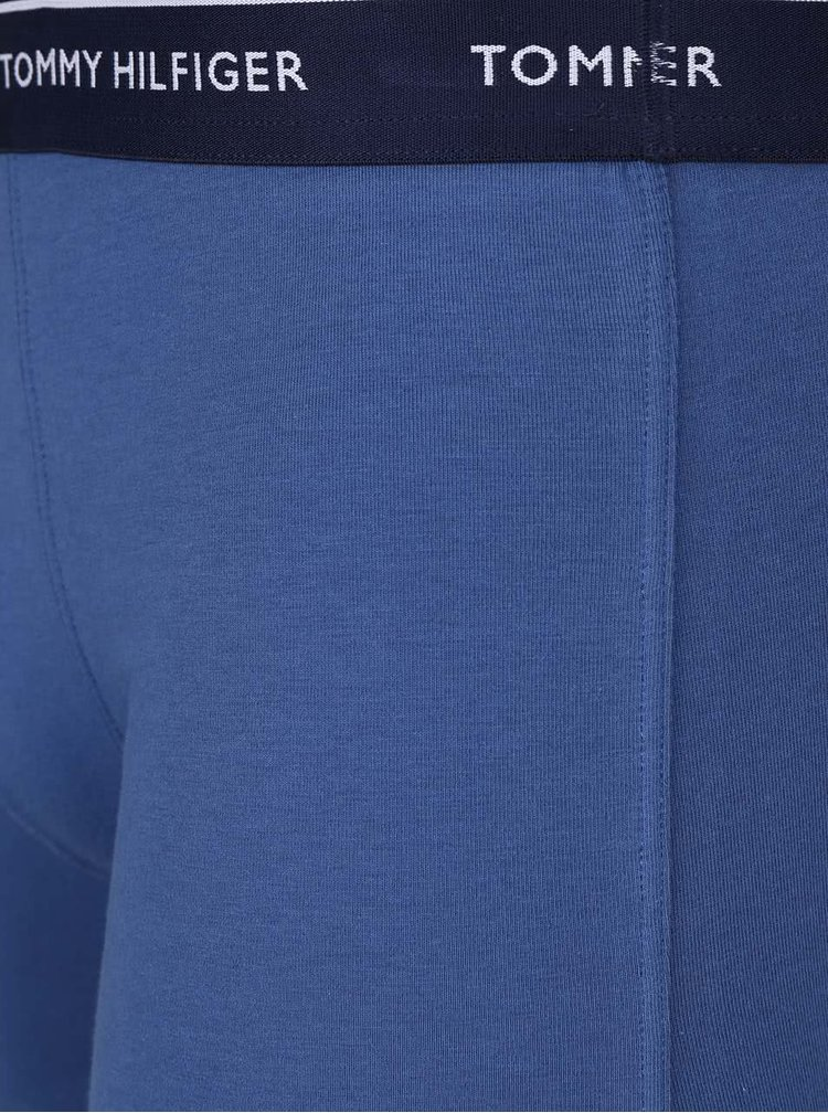 Súprava troch modrých boxeriek Tommy Hilfiger