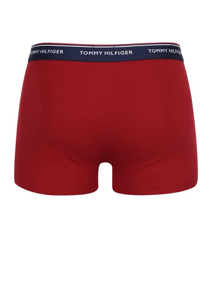 Sada tří boxerek v modré, zelené a červené barvě Tommy Hilfiger