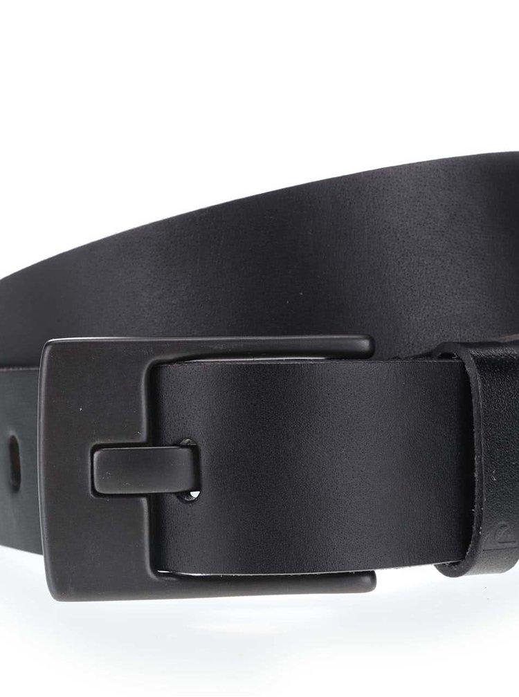 Černý pánský kožený pásek Quiksilver Revival