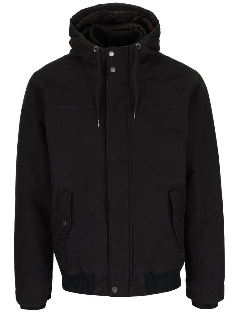 Černá pánská bunda elastickým lemem Quiksilver Everyday Brooks